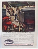 White Moving And Storage Truck 1944 Ad