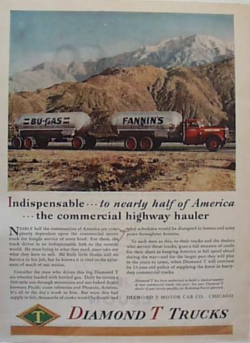 Dimont T Heavy Truck BU Gas Delivery 1944 Ad