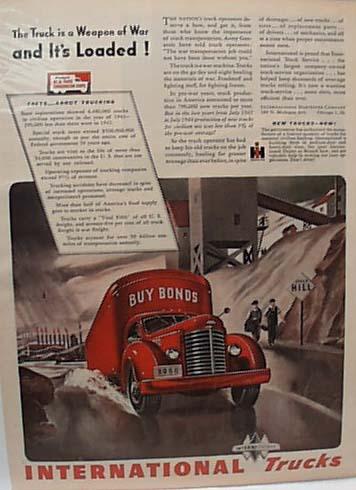 International Heavy Truck Says Buy Bonds 1944