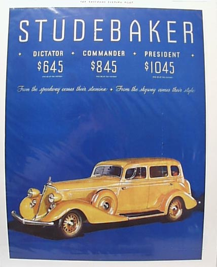 COLOR Studebaker Ad