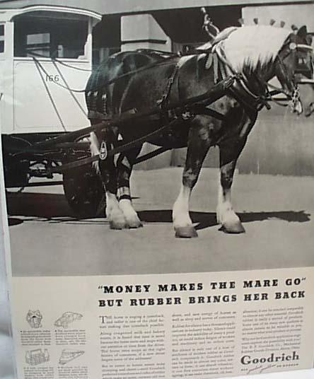 1936 Goodrich Tires On Horse Milk Wagon