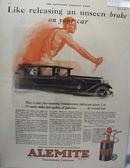Alemite Transmission Lubricant Ad 1927