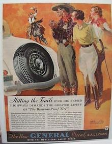 General Tire Ad 1934 Western Scene