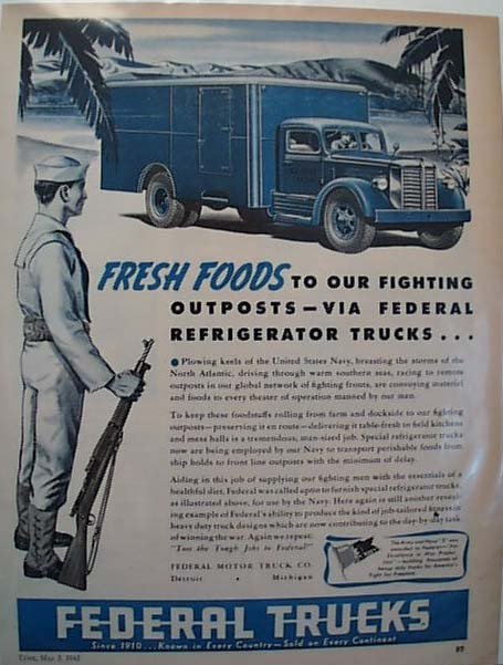 1943 Federal Truck Ad
