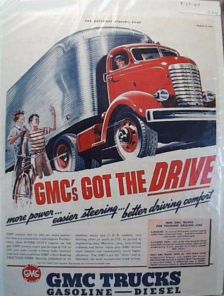 GMC 1940 Streamline Hauling Truck Ad