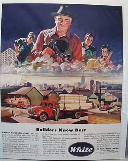 White Lumber Truck 1946 Ad