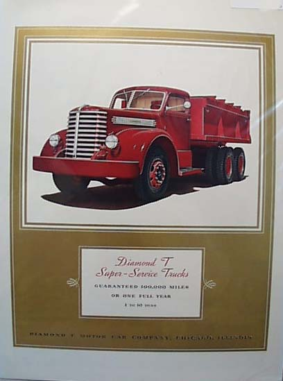 Diamond T 1940 Elegant Motor Car Truck Ad