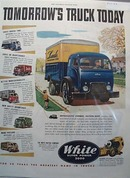 White Super Power 3000 Delivery Truck 1949 Ad