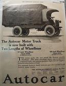 Autocar Truck Ad 1919