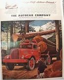Autocar 1945 Ad Autocar Big Diesel Truck