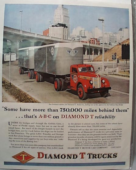 1945 Diamond T Truck Ad