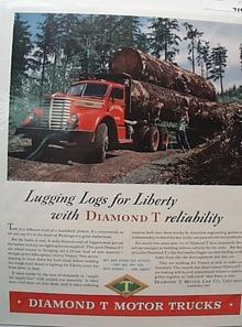 Autocar 1944 Ad Big Diesel Truck