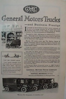 1919 GMC Truck Ad Featuring Bailey Banks