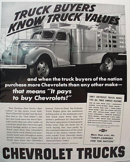1940 Chevy Truck Ad