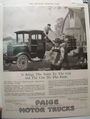 Paige Motor Truck 1919 Ad