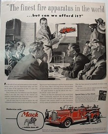 1961 Mack Firetruck Ad