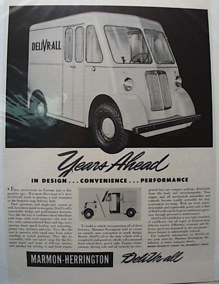 Marmon Herrington 1946 Delivery Truck Ad