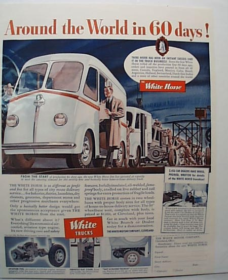 White Horse Truck 1939 Ad Assembly Line