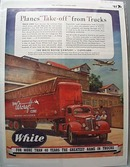 White Truck 1943 Ad Vega Aircraft Co Burbank