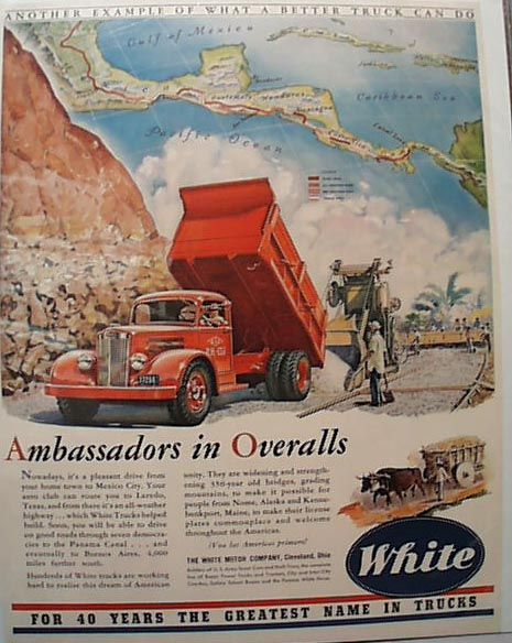 1942 White DumpTruck Building Roads in Mexico