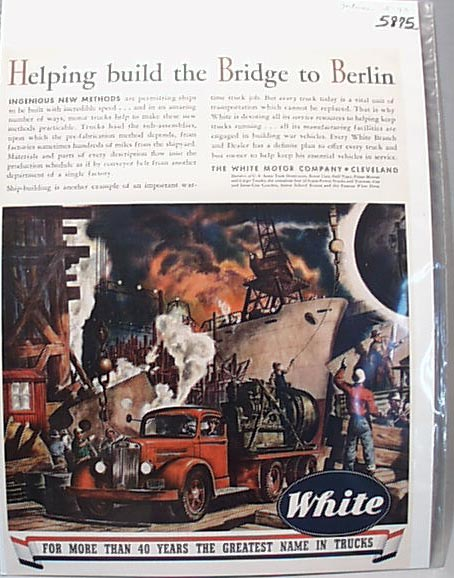White  Helps Build Bridge to Berlin 1943 Ad
