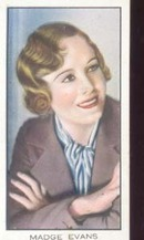 Madge Evans Film starTinted Photo Card 1930's