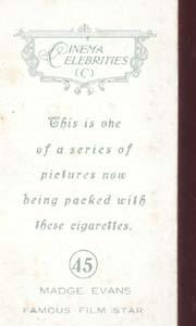 Madge Evans Film starTinted Photo Card 1930's