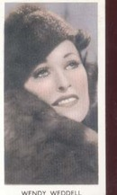 Wendy Weddell Film Star Tinted PhotoCard 1930
