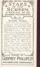 Rochelle Hudson Film Star Tinted Photo Card