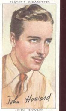 John Howard Film Star Tinted  Card 1938