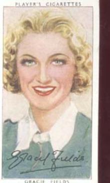 Gracie Fields  Film Star Tinted Card 1938