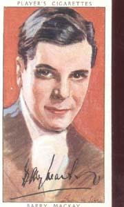 Barry Mackay Film Star  Tinted Card 1938