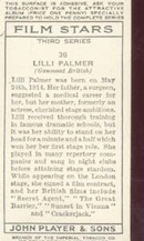 Lilli Palmer Film Star Tinted  Card 1938