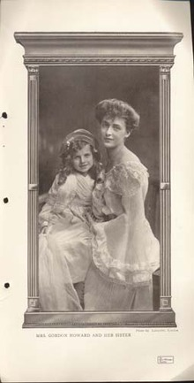 Mrs. Gordon Howard & Sister March 1907 Photo