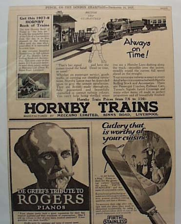 Dec, 1927 Hornby Train Ad Liverpool England