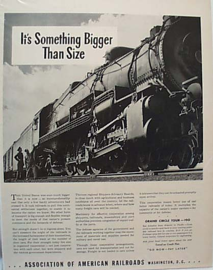 1941 RR Association Ad For Travel