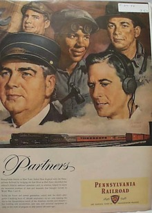 100 YEAR Pennsylvania Railroad 1946 Ad