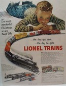 Lionel 1952 Train Christmas Ad