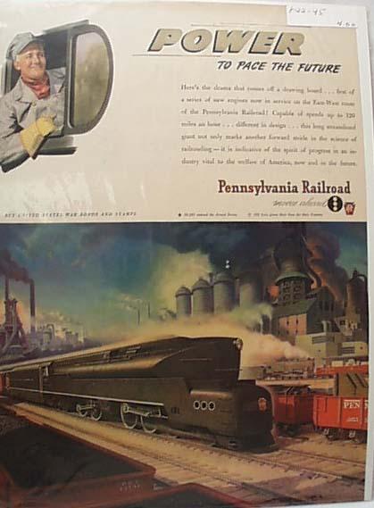 1945 Pennsylvania RR Ad