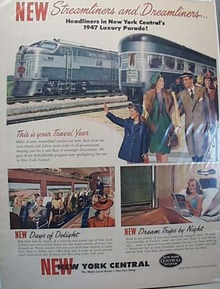 NYC Streamliners & Dreamliners 1947 Train Ad