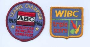 American Bowling Congress & WIBC patch, 1965 & 1966