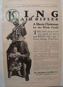 1913 Markham Air Rifle Plymouth Michigan Ad