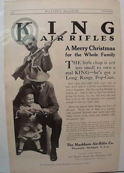 1913 Markham Air Rifle Plymouth Michigan Ad