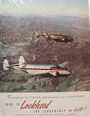 Lockheed Aircraft Ad 1939