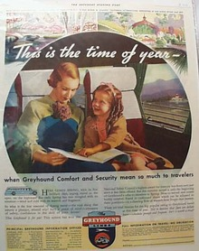 Greyhound Bus Ad 1935