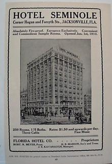 Hotel Seminole 1912 Ad