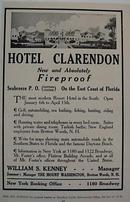 Hotel Clarendon 1912 Ad Fireproof Fla Hotel