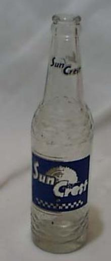Bottle Sun Crest pop bottle 12 fl. Ozs