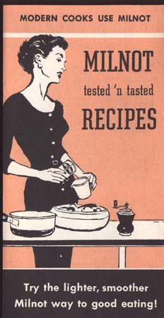 Modern Cooks Use Milnot Recipe Paper 1960's