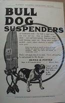 Bull Dog Suspenders Late 1800's Ad